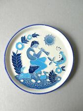 assiette décorative en céramique, Creazioni Luciano, Italy, Primavera