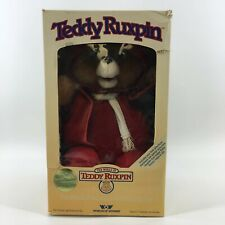 Vintage 1985 Teddy Ruxpin Worlds Of Wonder In Opened Package 3 Books & Tapes