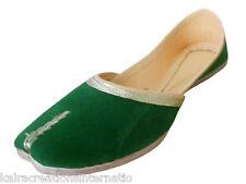 Traditional Leather Women Shoes Flip-Flops Punjabi Jutti Handmade Kciw152 US 9