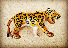 Leather Animal Ornament Figurine - Leopard Collectable Free Standing