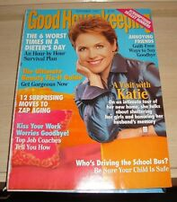 GOOD HOUSEKEEPING MAGAZINE BACK ISSUE SEPTEMBER 1999 KATIC COURIC COVER