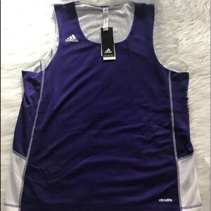 NEW wTag-ADIDAS Purple/White Practice Jersey L