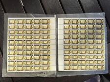 1962 U.S - DAG HAMMARSKJOLD INVERTED- Vintage Full Mint Sheet of 50 Set of 2 L&R