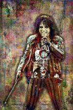 Alice Cooper Pop Art Poster, Alice Cooper Art Print 16x20inch Free Shipping