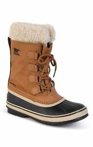 Sorel Winter Carnival Womens Ankle Snow Boots Waterproof in Camel Brown, Size 4
