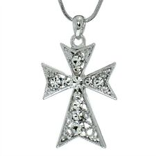 Cross Pendant Made With Swarovski Crystal Jesus Christ New Necklace Jewelry Gift
