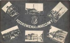 RPPC WARSAW POLAND EXPOSITION MULTI-VIEW REAL PHOTO POSTCARD CANCEL 1929