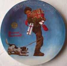 "Norman Rockwell ""Wrapped Up In Christmas"" 1981 Christmas Series Plate by Knowles"