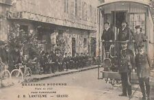 -Carte Postale ancienne Grasse ( Alpes-Maritimes ) Brasserie Moderne Funiculaire