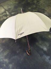 La Bagagerie Paris vintage Umbrella wood handle Clothe White Ivory Large