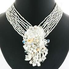 """2 15/16"""" OPULENT OPALITE HAND BEADED PENDANT BEADS necklace"""
