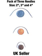 """3pk Curved needle set 2"""" 3"""" 4"""" curved needle repair kit *upholstery* sewing"""