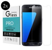 2x Schutzglas für SAMSUNG GALAXY S7 Echt Glas Schutzfolie 9H Display Schutz 3D