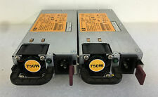 2x HP DL380P G8 POWER SUPPLY 750W HSTNS-PD18 511778-001, 506822-101,506821-001