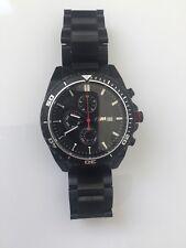 BMW Watch Genuine M Black Chronograph Wristwatch 2016/18 Lifestyle 80262406694