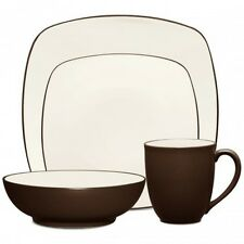Noritake Colorwave Chocolate Square 32Pc Dinnerware Set, Service for 8