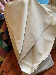Ancien coupon de tissu neuf en lin brut 19ème  larg 240 cm x H 350 cm