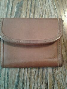 Vintage Brown Leather Coach Keychain Coin Purse (cb29)