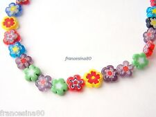 10 murrine millefiori forma Fiore 11x4mm vetro murrina