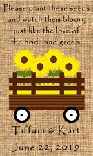 Wedding Wildflower Seed Packets Favors Farm Country Design Set of 100