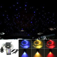 16W RGBW Remote Music LED Fiber Optic Star Ceiling Light Kit 200pcs 0.75mm 2m