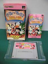 SNES -- GOOF TROOP Goofy Max -- Box, Super famicom, Japan, work fully. 14252