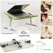 ADJUSTABLE PORTABLE LAPTOP TABLE STAND FOLDING BED TRAY COMPUTER BREAKFAST DESK