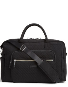 Vera Bradley Iconic Weekender Travel Bag Carry On Classic Black NWT
