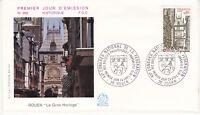 Enveloppe 1er jour FDC n°958 - 1976 : Rouen Le Gros Horloge