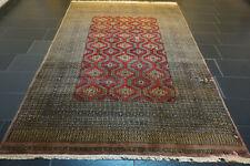Alt Handgeknüpfter Perser Orientteppich Afghan Buchara Carpet Tappeto 195x280cm