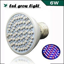 6W E27 60LEDs LED Plant Grow Light for Flowering leafing Hydroponics System