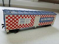E6 HO Scale TRAIN Box CAR HORN HOOK MRS 4554 RALSTON PURINA CHECKERBOARD
