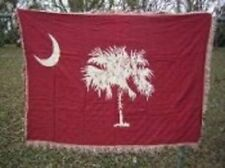 South Carolina Big Red Flag 4ft x 6ft Cotton Woven Throw Blanket Super Comfy