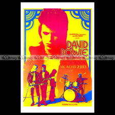 #phpb.000781 Photo DAVID BOWIE HAMMERSMITH ODEON THEATRE 1973 A4 Poster reprint