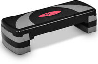 Cardio Exercise Stepper Platform Portable Adjustable Height Fitness Aerobic Step