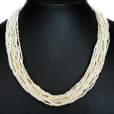 Colliers et pendentifs fantaisie blancs en perle