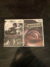 Nintendo Wii Video Games - Manhunt 2 (Rockstar) + Medal of Honor Vanguard (EA)