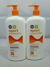 Up & Up Sport Sunscreen Lotion Spf 50 16 fl oz each Lot of 2 Exp 05/2021