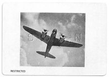 WWII Double Sided Recognition Photo Card- Japan- Bomber- Lily- 1944