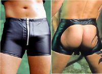 aw-533 Ledershorts,Leder Shorts,Gay Hosen,kurze lederhos leather pant