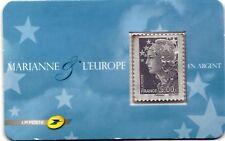 MARIANNE et l'EUROPE en argent neuf **