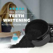 100%~Natural Organic Activated Charcoal Teeth Whitening Powder Bamboo Toothpaste