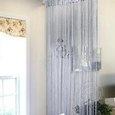 Cortina de mosquitera sola de franja de panel Cortina ventana de puerta tassle
