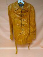 BEGED-OR Italia Vintage womans Leather Jacket Blazer Coat