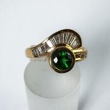 Tsavorit Ring Gold 750/- Handarbeit Idar Oberstein Garnet Tsavorite Granat