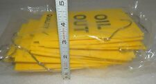 """New listing (25 Count) Oil Out Caution Tags sturdy solid plastic 6"""" x 4"""""""