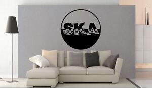 Wall Sticker Ska Style Ska Record Mod Music Vinyl wall art Decal