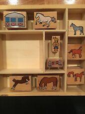 Melissa And Doug Wood Horse Stamp Set *