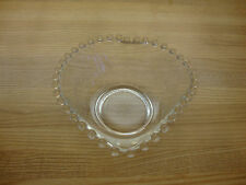 VINTAGE IMPERIAL GLASS CANDLEWICK HEART SHAPE DISH BOWL WITH CORNFLOWER DESIGN