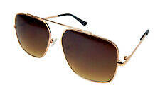 Ella Jonte Sonnenbrille gold braun Herren Damen Retro Brille Pilotenbrille UV400